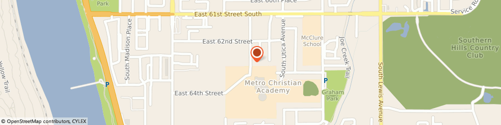 Route/map/directions to Metro Christian Academy, 74136 Tulsa, 6363 SOUTH TRENTON AVENUE