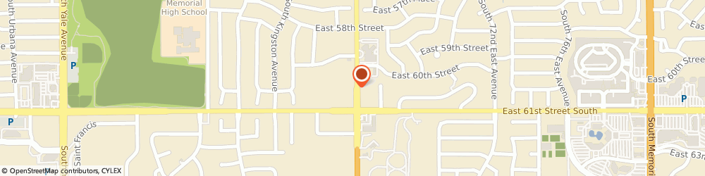 Route/map/directions to Stitches Sewing & Service of Tulsa, 74145 Tulsa, 6024 S Sheridan Rd