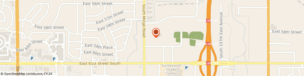 Route/map/directions to U-Haul Co., 74146 Tulsa, 5815 S MINGO RD
