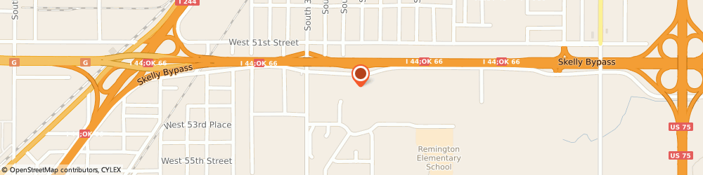 Route/map/directions to U-Haul Co., 74107 Tulsa, 2940 W SKELLY DR