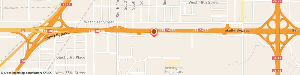 Route/map/directions to CLAVERS GARAGE, 74107 Tulsa, 2828 W Skelly Dr