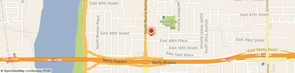 Route/map/directions to Pizza Hut, 74105 Tulsa, 4911 S Peoria Ave