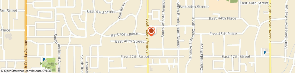 Route/map/directions to Church Of God Of Prophecy, 74105 Tulsa, 4542 North Lewis Avenue