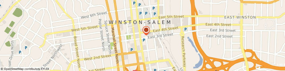 Route/map/directions to Collins Price PLLC, 27101 Winston-Salem, 301 N Main St Suite 803