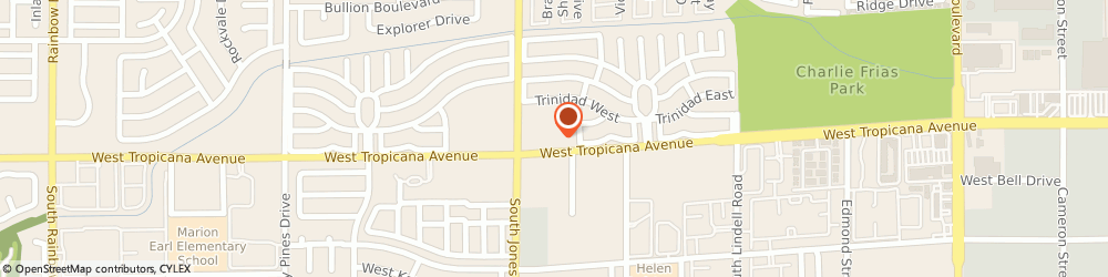 Route/map/directions to T-Mobile, 89103 Las Vegas, 6016 W Tropicana Ave