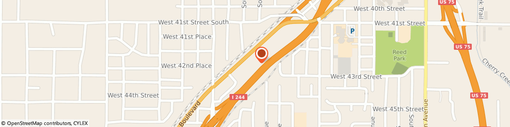 Route/map/directions to H&R Block, 74107 Tulsa, 4243 SW Blvd