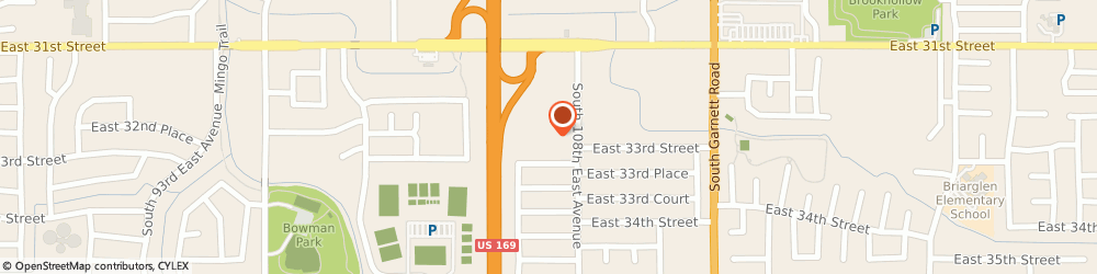 Route/map/directions to Schindler, 74146 Tulsa, 3168 South 108Th East Avenue
