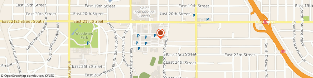 Route/map/directions to P.F. Chang's, 74114 Tulsa, 1978 E 21st St.