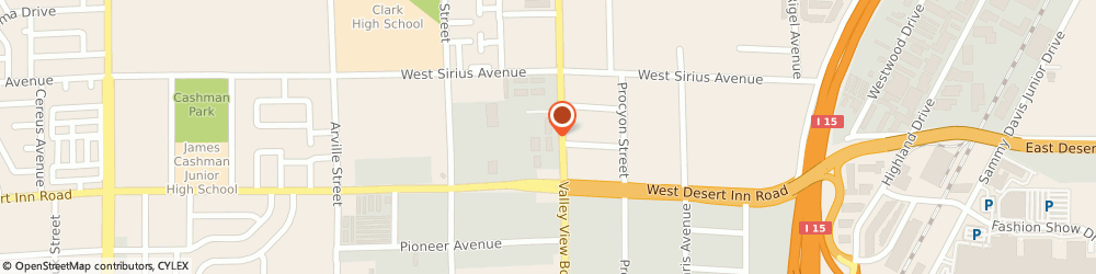 Route/map/directions to Pacific Fitness Inc, 89102 Las Vegas, 3111 S VALLEY VIEW BLVD STE N105