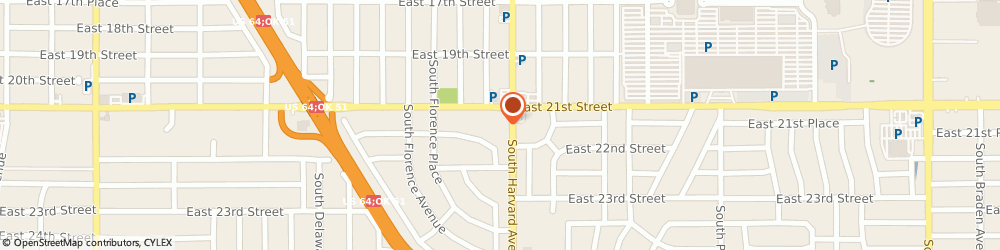 Route/map/directions to Cvs Pharmacy, 74114 Tulsa, 2110 S Harvard Ave