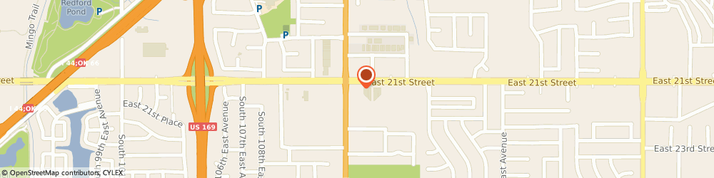 Route/map/directions to Burger King, 74129 Tulsa, 11316 East 21st St