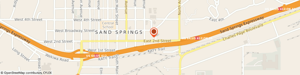 Route/map/directions to H&R Block, 74063 Sand Springs, 353 E 2nd