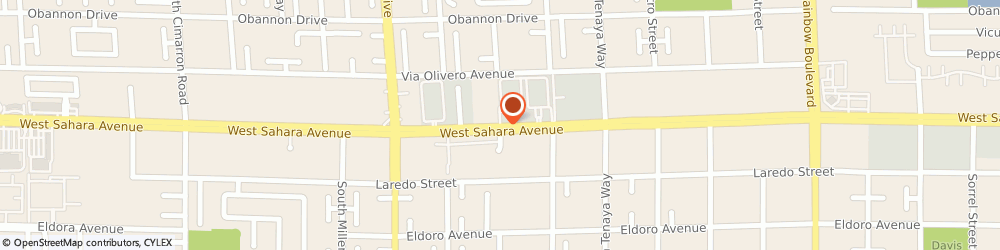 Route/map/directions to FINO for MEN, 89117 Las Vegas, 7207 West Sahara Avenue
