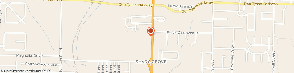Route/map/directions to Furniture Row, 72762 Springdale, 4000 S. Thompson