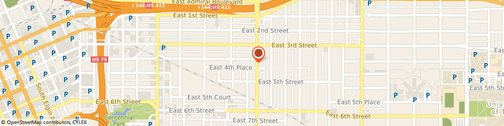 Route/map/directions to Kaman Industrial Technologies, 74104 Tulsa, 416 S. Utica Avenue