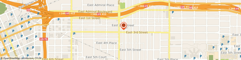 Route/map/directions to Sinclair Oil, 74104 Tulsa, 223 S Utica Ave