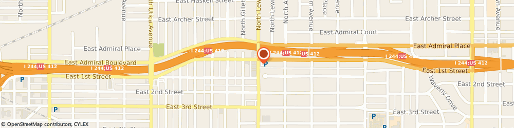 Route/map/directions to Arvest Bank, 74104 Tulsa, 8 SOUTH LEWIS AVENUE