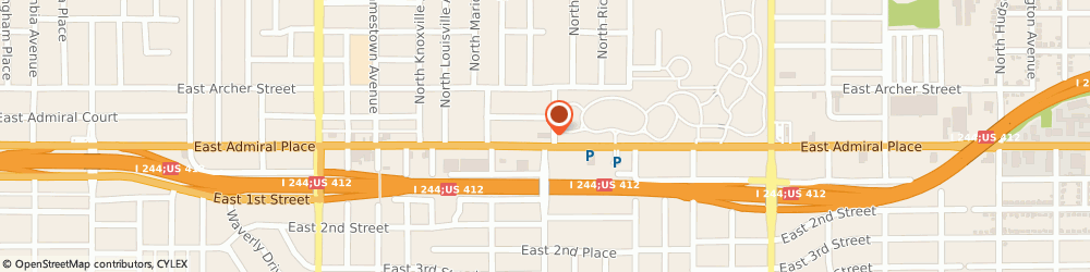Route/map/directions to H&R Block, 74115 Tulsa, 3953 E Admiral Pl