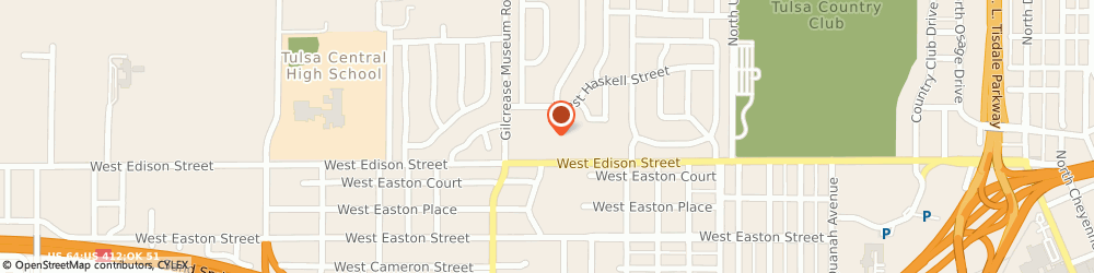 Route/map/directions to STD Testing Services TULSA, 74127 Tulsa, 533 N Gilcrease Museum Road