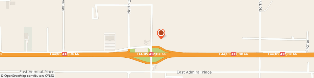 Route/map/directions to Cummins Sales and Service, 74116 Tulsa, 16525 East Skelly Drive