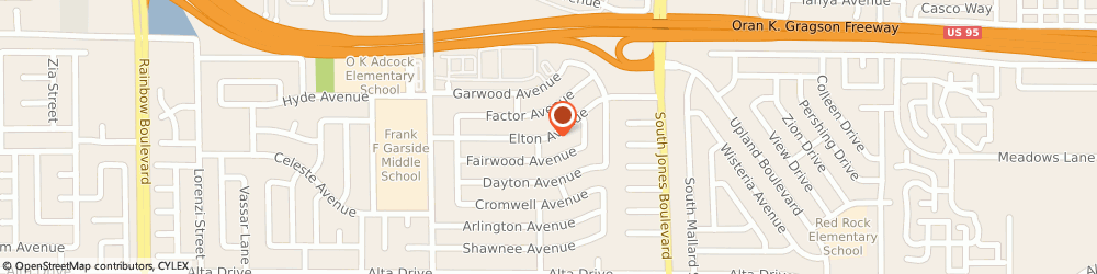 Route/map/directions to Law Office of William H. Jackson, 89107 Las Vegas, 6130 Elton Avenue