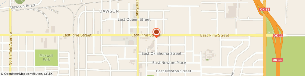 Route/map/directions to Sinclair Service Station, 74115 Tulsa, 6624 E Pine St