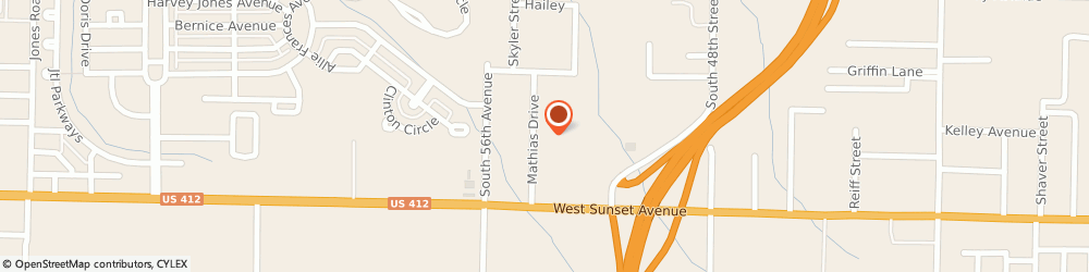 Route/map/directions to Mathis Outlet Springdale, 72762 Springdale, 5320 W Sunset