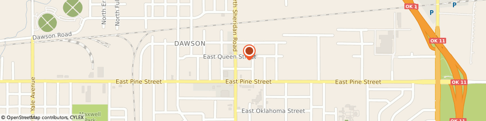 Route/map/directions to Concentra Urgent Care, 74115 Tulsa, 1541 N Sheridan Rd