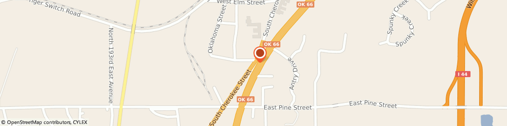 Route/map/directions to Curves For Women, 74015 Catoosa, 517 SOUTH CHEROKEE STREET