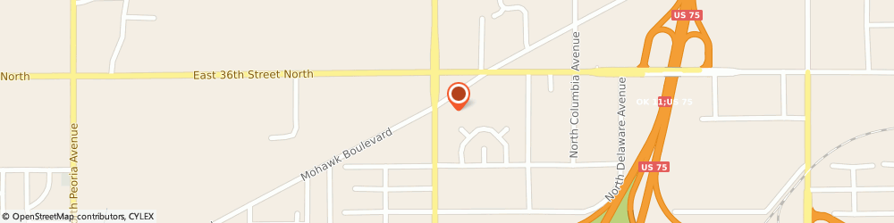 Route/map/directions to Sinclair Oil Corporation, 74110 Tulsa, 3407 N Lewis Ave