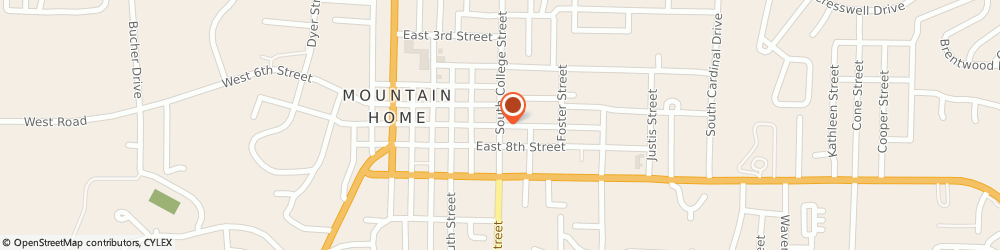 Route/map/directions to Farmers Insurance Group, 72653 Mountain Home, 701 SOUTH COLLEGE STREET