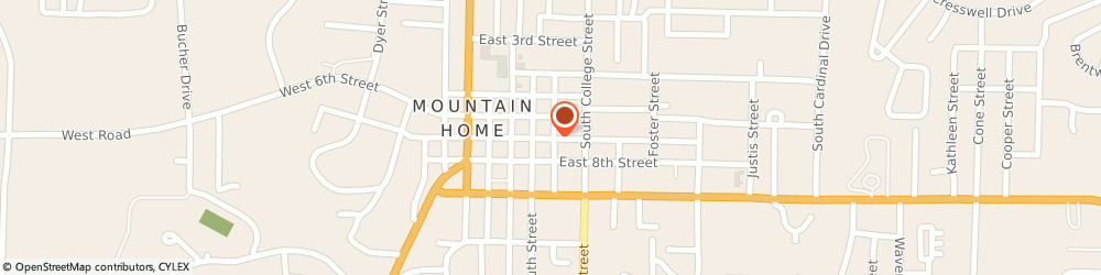 Route/map/directions to Farmers Insurance Mountain Home, Lisa Hodge, 72653 Mountain Home, 359 E 7TH ST