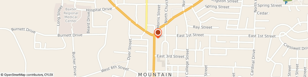 Route/map/directions to Navy Federal Credit Union, 72653 Mountain Home, 100 South Main Street