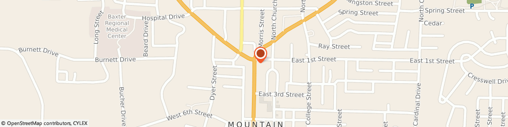 Route/map/directions to US BANK, 72653 Mountain Home, 100 SOUTH MAIN STREET