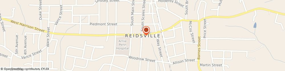 Route/map/directions to Beltone Hearing Aid Center, 27320 Reidsville, PENNROSE MALL