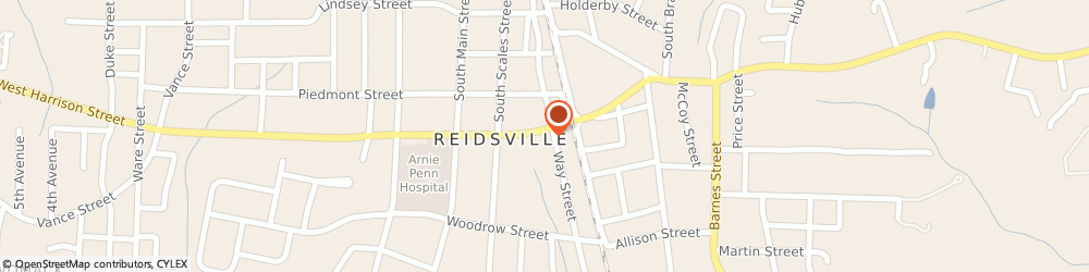 Route/map/directions to KFC, 27320 Reidsville, 209 W. Harrison