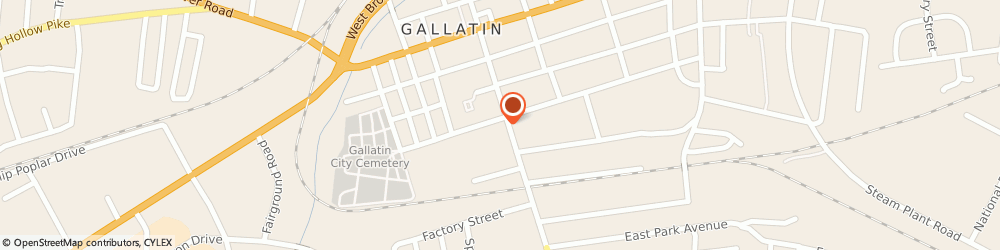 Route/map/directions to Delta Express, 37066 Gallatin, 406 South Water Street