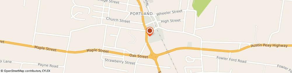Route/map/directions to York Dealer, 37148 Portland, 203-B South Broadway