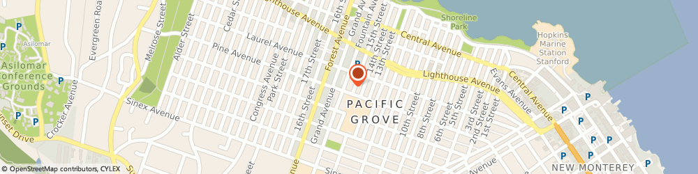 Route/map/directions to Peninsula Christian Center, 93950 Pacific Grove, 520 PINE AVENUE