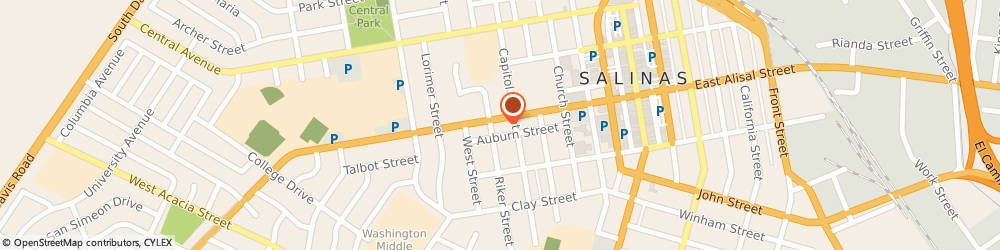 Route/map/directions to Miller Clark a Bankruptcy Attorney, 93901 Salinas, 215 WEST ALISAL STREET
