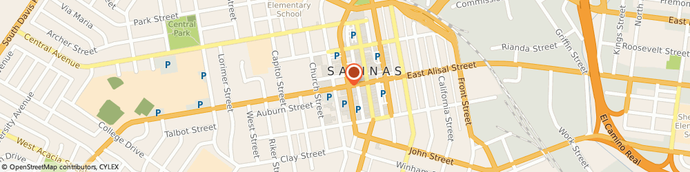 Route/map/directions to Vernor Process Serving, 93901 Salinas, 60 WEST ALISAL STREET