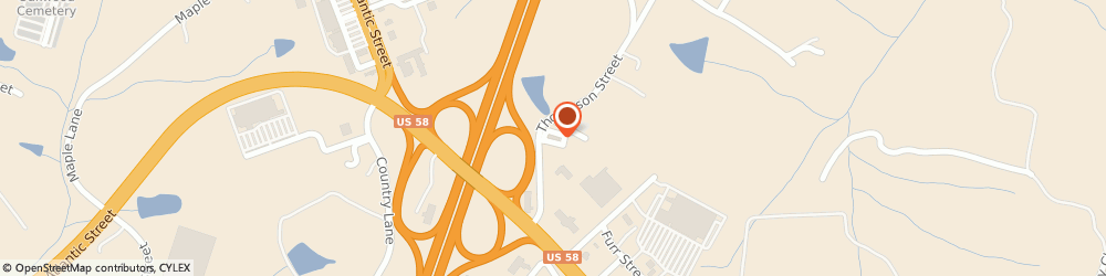Route/map/directions to Comfort Inn & Suites South Hill I-85, 23970 South Hill, 250 Thompson Street