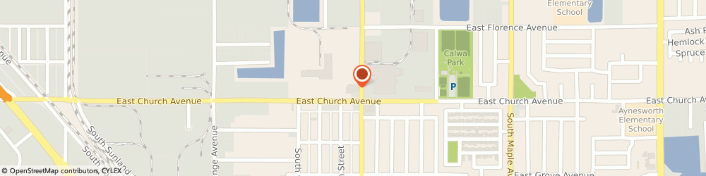 Route/map/directions to United States Postal Service, 93725 Fresno, 2382 S Cedar Ave