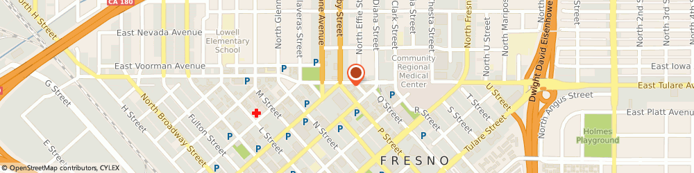 Route/map/directions to Valero Energy Corporation, 93721 Fresno, 1460 P St