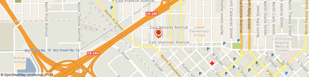 Route/map/directions to Armored Transport Of California Incorporated, 93701 Fresno, 110 NORTH BROADWAY STREET