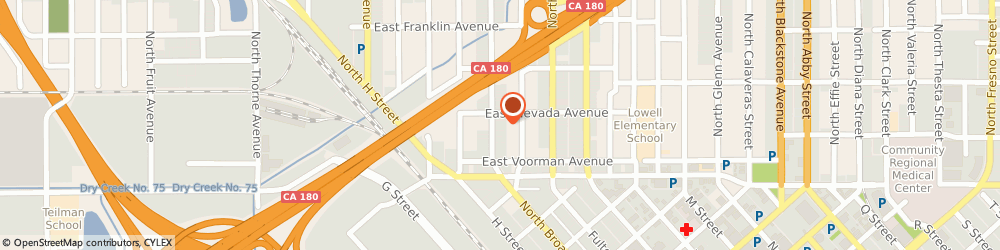 Route/map/directions to Cook Donald Cooks Communicatio, 93701 Fresno, 160 NORTH BROADWAY STREET