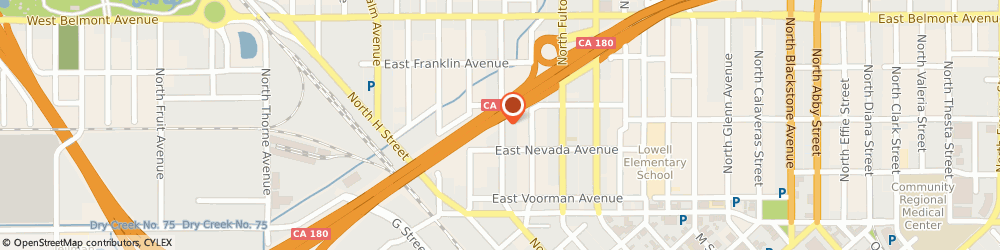 Route/map/directions to Fast Traxx Recording Studio, 93701 Fresno, 248 NORTH BROADWAY STREET