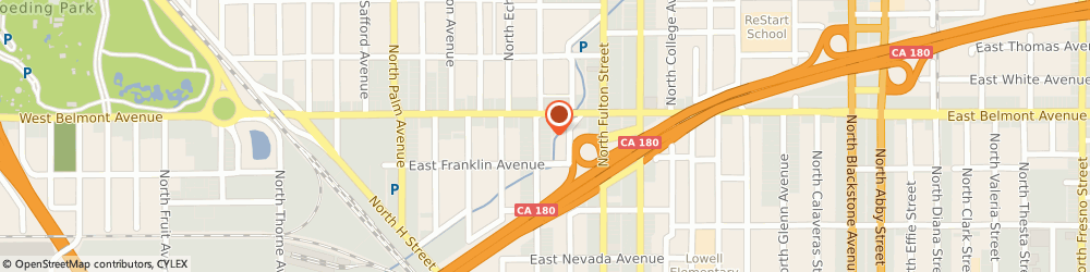 Route/map/directions to Ultimate Basket Imports, 93701 Fresno, 456 NORTH BROADWAY STREET