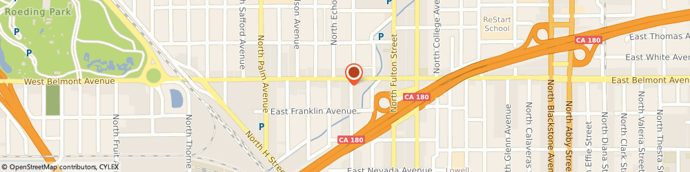 Route/map/directions to Tinkler Funeral Chapel & Crematory, 93701 Fresno, 475 North Broadway Street
