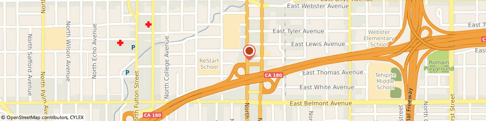 Route/map/directions to U-Haul Moving & Storage of Mid City, 93701 Fresno, 749 N Blackstone Av
